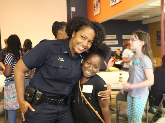 In addition to helping coach some of PAL's 11 different recreational programs, which range from baseball, golf, basketball to cheer, police officers also lead at least 10 mentoring sessions each season in which participants get to know each other on a personal level.