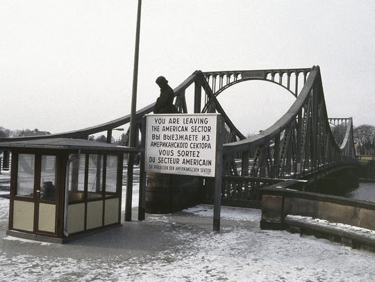 The Glienicke Bridge between West Berlin and Potsdam