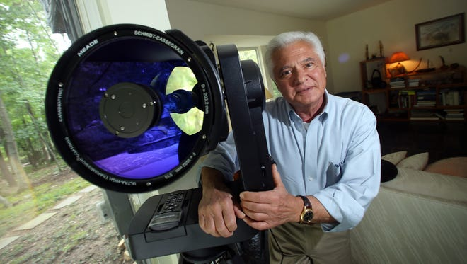 William Gutsch of Kinnelon is giving a seminar next week on how to safely view and capture the upcoming solar eclipse. Gutsch is a retired professor and photographer. July 13, 2017. Kinnelon, NJ.