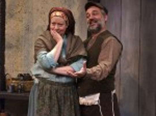 Pam Goode and Steve Marsocci in FIDDLER ON THE ROOF at JCC CenterStage