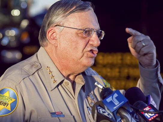 Then-Maricopa County Sheriff Joe Arpaio answers questions
