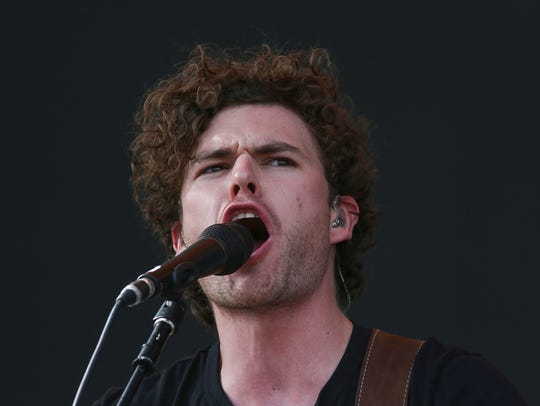 Apr 15, 2018; Indio, CA, USA; Vance Joy performs at