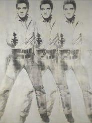 Andy Warhol (1930–1987), Triple Elvis, 1963. aluminum