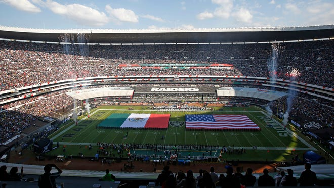 CBS used crowd noise to down out slur chanted by some fans during Sunday's NFL game in Mexico City.