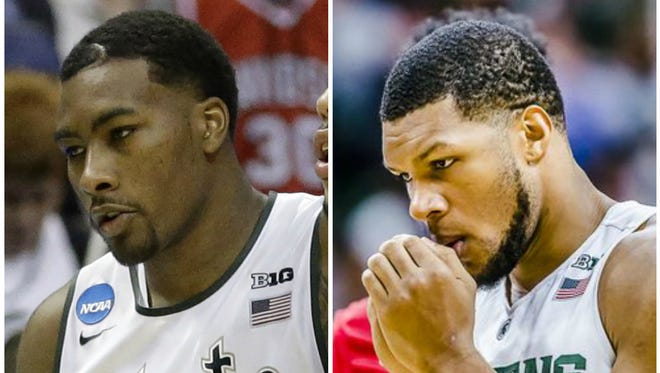 Sophomore forwards Javon Bess, left, and Marvin Clark will each finish their two years of eligibility elsewhere, MSU confirmed with a press release Monday evening.