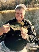 Jarrid Houston and friends are catching panfish with regularity right now, fishing warm bays in the late afternoon