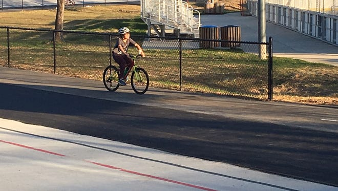 Renovations and upgrades to surfacing and lighting are now complete at the Carrier Park Velodrome in Asheville.