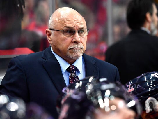 Barry Trotz has guided the Capitals to two Presidents' Trophies, three Metropolitan Division titles and a Stanley Cup Final.