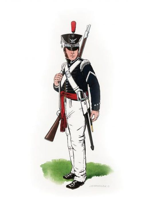 A sergeant major in the US infantry in 1827. (Submitted)