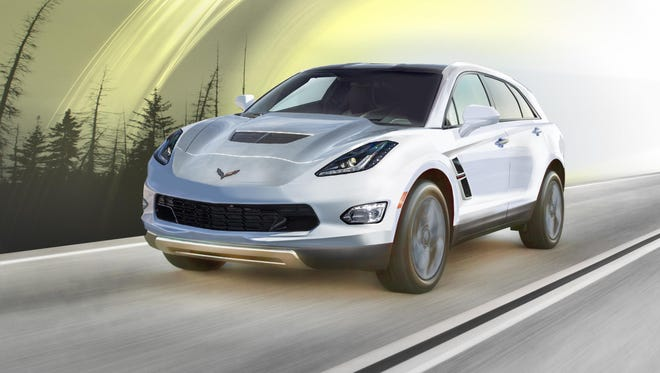 The Detroit News' Corvette SUV concept reflects a stretched version of the sports car's seventh-generation architecture.