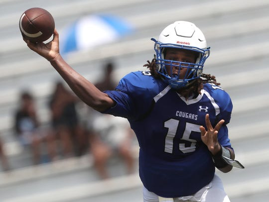 Godby's Rasean Mckay throws the ball against Nature
