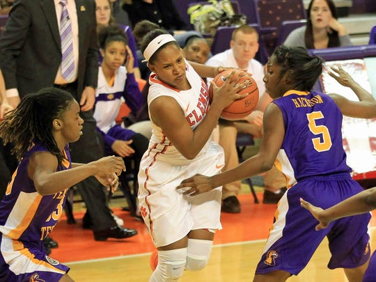 Nelly Perry, pictured here during a 2014 game against Tennessee Tech, is the Clemson women's basketball team's returning leading scorer.