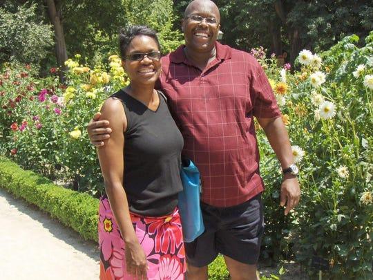 Cynthia and Greg Ward visiting Real Jardin Botanico (Royal Botanical Garden) in Madrid, Spain in 2011.