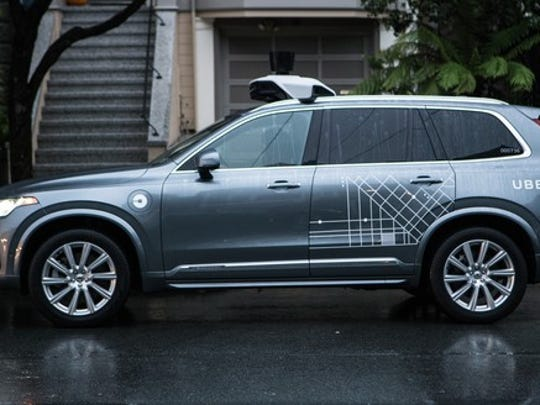Uber has been testing self-driving technology aboard a small fleet of Volvo SUVs.