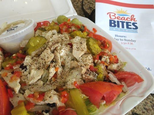 Beach Bites' Greek salad was loaded with black Greek
