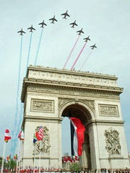 The French air force precision flying team streams