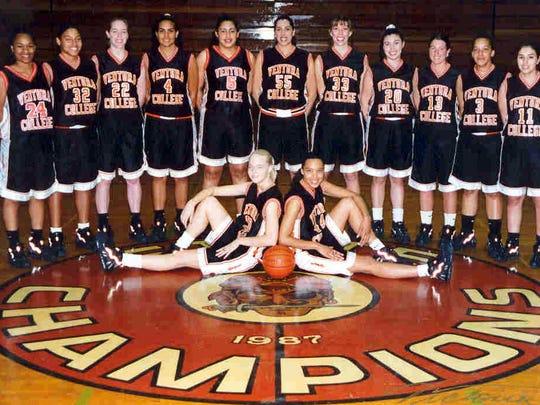 Members of the 1996-97 Ventura College women's basketball