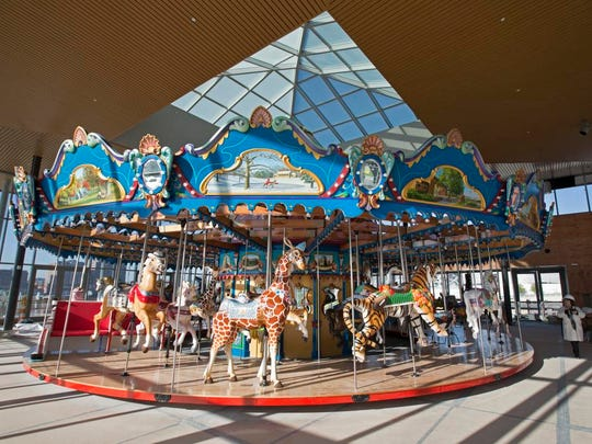 Carol Ann's Carousel in Smale Riverfront Park at The Banks will officially open May 16 with ice cream and cake, the date of Carol Ann's birthday.
