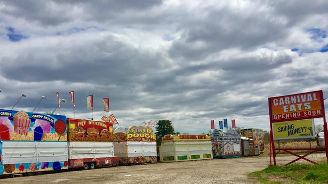 """The Seabrook-based Fiesta Shows is opening the drive-thru """"Carnival Eats"""" in Salisbury, Massachusetts."""