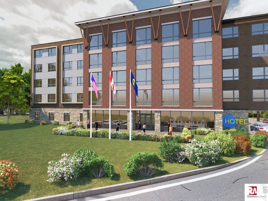Shown here is a rendering of the proposed 104-room