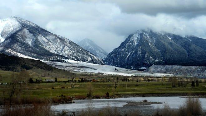 The Yellowstone River runs through the Paradise Valley near Livingston.