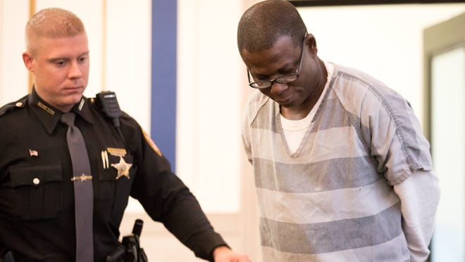 Mon., Nov. 13, 2017: Samuel Afolabi, who worked at the upscale nursing home Carriage Court of Kenwood, was sentenced in Judge Megan Shanahan's courtroom.