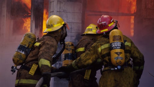 Firemen at a scene