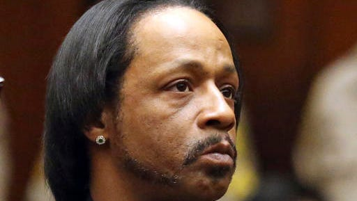 FILE - In this, Oct. 27, 2015, file photo, comedian Katt Williams appears in court for his arraignment on robbery charges in Los Angeles. Williams has pleaded no contest to assault and battery charges stemming from an incident with a bodyguard in north Georgia. The comedian, whose real name is Micah Sierra Williams, was charged in March after authorities said he threatened the man while an acquaintance beat him with a baseball bat. Defense attorney Drew Findling said Williams agreed to a plea deal on Thursday, Dec. 1, 2016.