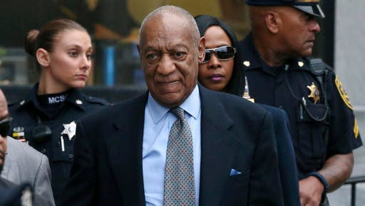 FILE - In this Nov. 1, 2016 file photo, Bill Cosby leaves after a hearing in his sexual assault case at the Montgomery County Courthouse in Norristown, Pa. Lawyers for Cosby will battle in court starting Tuesday, Dec. 13, to try to limit the number of other accusers who can testify at the comedian's sexual assault trial.