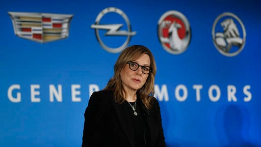 FILE- In this Jan. 10, 2017, file photo, General Motors Chairman and CEO Mary Barra speaks about the financial outlook of the automaker in Detroit. General Motors will announce a $1 billion investment in its factories that will create or keep around 1,000 jobs, a person briefed on the matter said Monday, Jan. 16. (AP Photo/Paul Sancya, File)