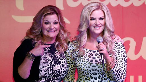 Trisha Yearwood unveils her wax figure at Madame Tussauds at Opry Mills on Thursday, April 13, 2017, in Nashville, Tenn.