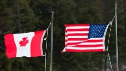 The U.S. and Canada are at odds over timber, as well as dairy, in trade relations.