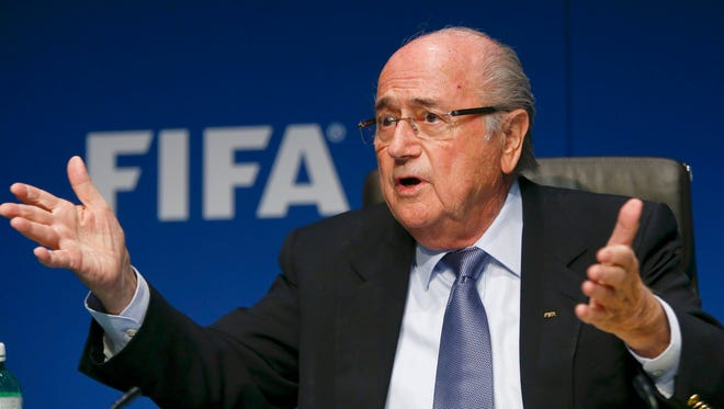 Blatter during a news conference in March.