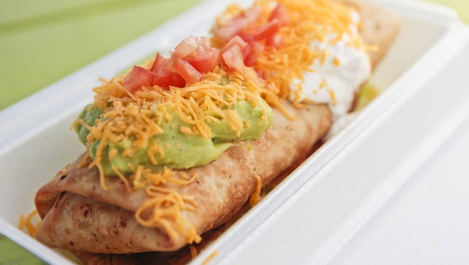 Green chimichanga from  Rito's Mexican Food in Phoenix.