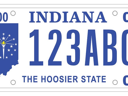 The Hoosier State plate