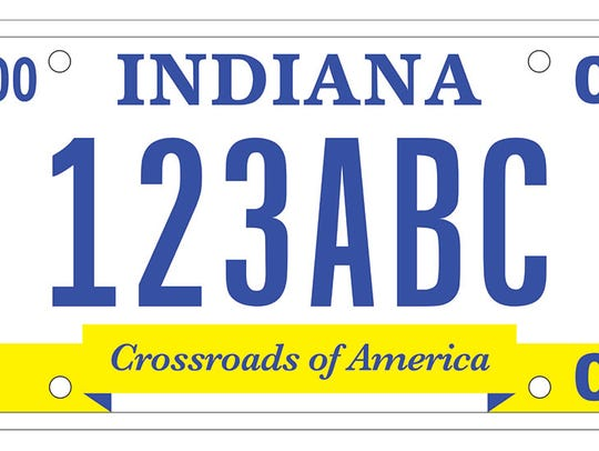 The Crossroad of America plate.