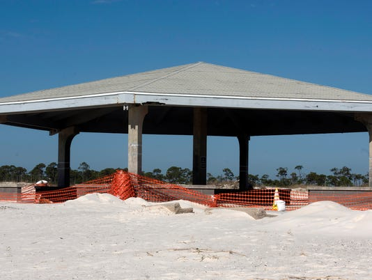 Johnson Beach Pavilion Damage