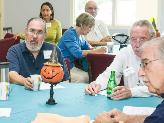 Members gather for a recent meeting of the Parkinson's