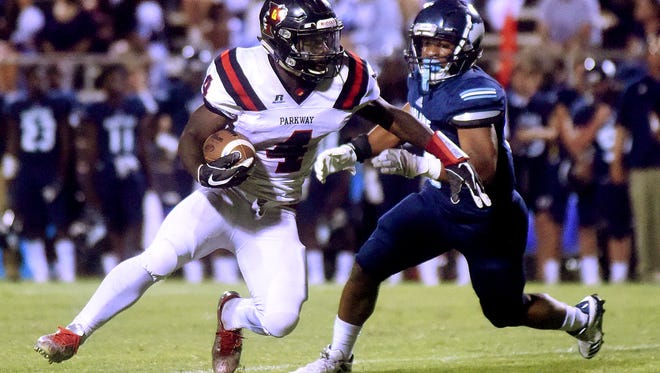 Parkway vs. Airline at Airline High School in Bossier City on Friday, Sept. 29, 2017.