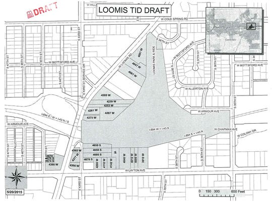Map of Loomis Crossing special taxing district