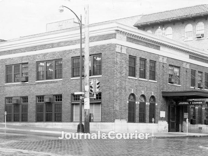 The Lafayetter Journal & Courier offices as seen in
