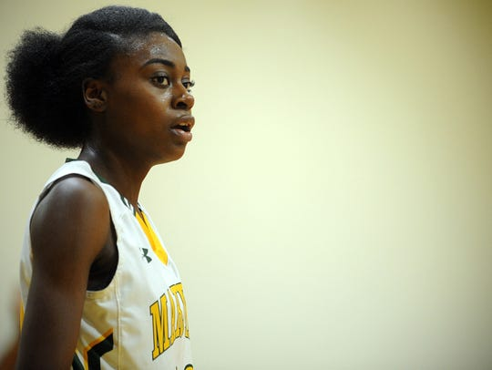 Mardela senior Kayla Cook has tallied 1,000 career rebounds and points with the Mardela girls basketball team.