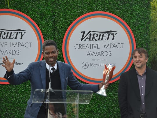 Chris Rock (left) received the Variety Creative Impact