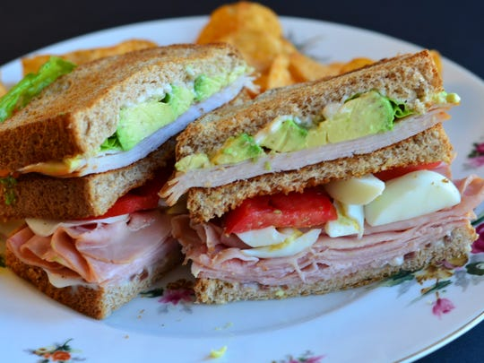 This Cobb Club is a giant, delicious sandwich that takes elements from a Cobb salad and Club sandwich.