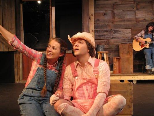 Maria Buchanan as Fern, David Sebren as WIlbur, and Jonesalee Musician Gina .JPG