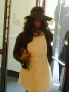 Pictured is a suspect in the robbery of a PNC Bank Monday.