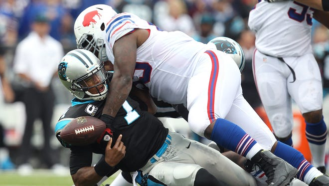 Marcell Dareus was all over Panthers quarterback Cam Newton during the Bills' win over Carolina.