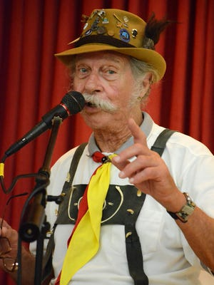 Guerry Boger sings with the Sounds of Yesteryear at the Oktoberfest event on Saturday, Oct. 8.