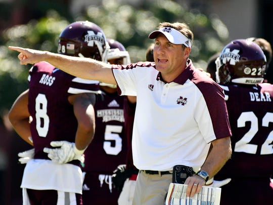 Head coach Dan Mullen and the Mississippi State Bulldogs