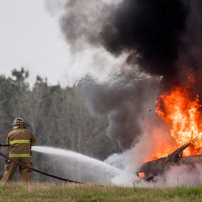 Volunteer firefighters put out vehicle fire in Pike Road